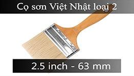 Cọ sơn cán gỗ 2.5 inch loại 2
