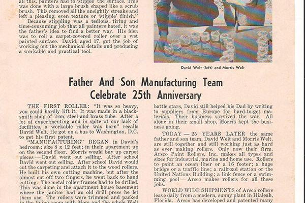Bài báo nói về American Roller Stippler Company (ARSCO)