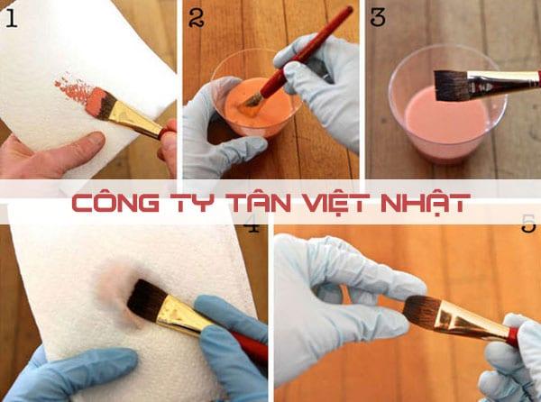 Sử dụng dung môi thích hợp để làm sạch cọ sơn